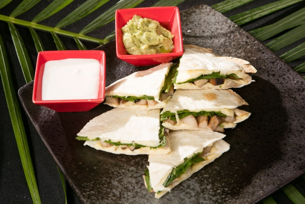 Mexican Quesadillas( mushroom or beef or chicken )